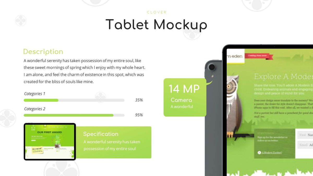Clover - Creative Powerpoint Template, Slide 23, 06222, Business Models — PoweredTemplate.com