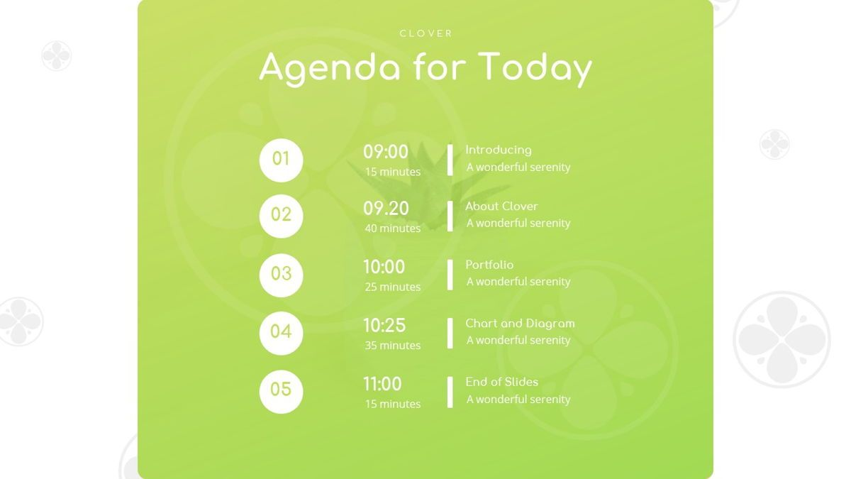 Clover - Creative Powerpoint Template, Slide 5, 06222, Business Models — PoweredTemplate.com