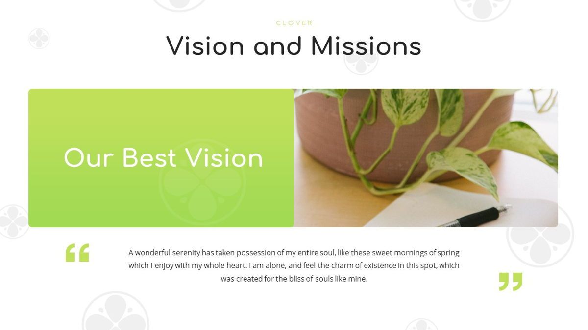 Clover - Creative Powerpoint Template, Slide 7, 06222, Business Models — PoweredTemplate.com