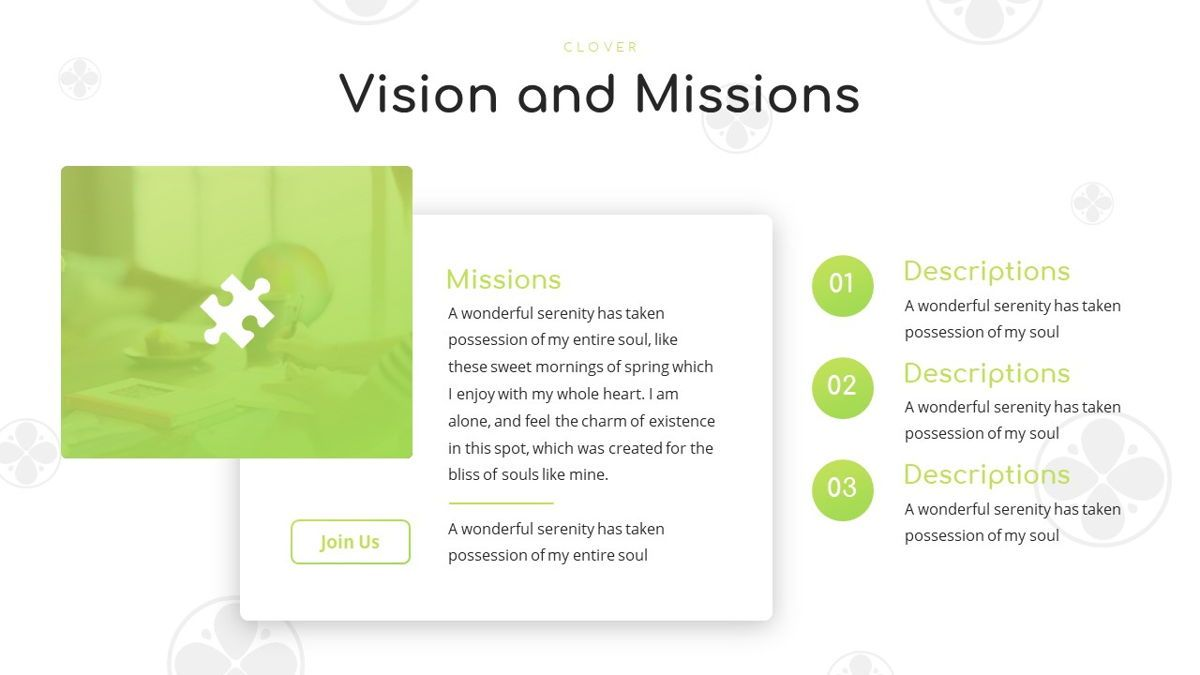 Clover - Creative Powerpoint Template, Slide 8, 06222, Business Models — PoweredTemplate.com