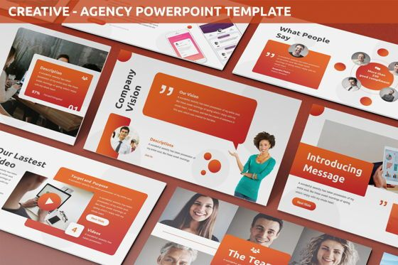 Business Models: Creative - Agency Powerpoint Template #06223