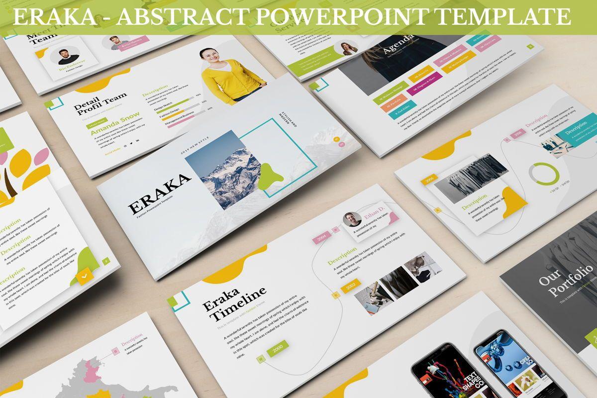 Eraka - Abstract Powerpoint Template, 06224, Business Models — PoweredTemplate.com