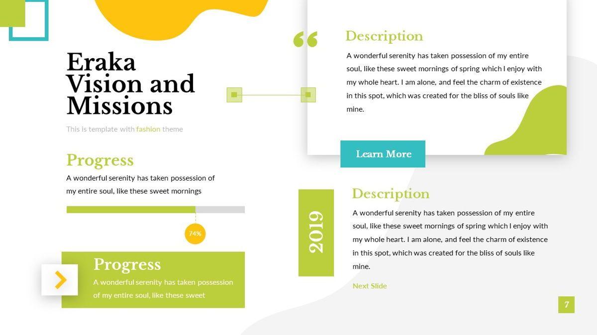 Eraka - Abstract Powerpoint Template, Slide 8, 06224, Business Models — PoweredTemplate.com