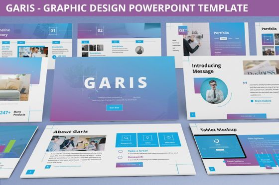 Data Driven Diagrams and Charts: Garis - Graphic Design Powerpoint Template #06225