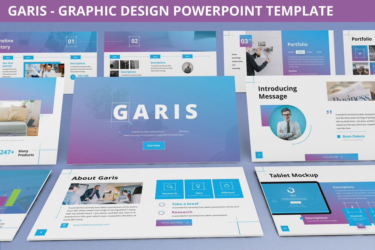 Garis - Graphic Design Powerpoint Template, 06225, Data Driven Diagrams and Charts — PoweredTemplate.com