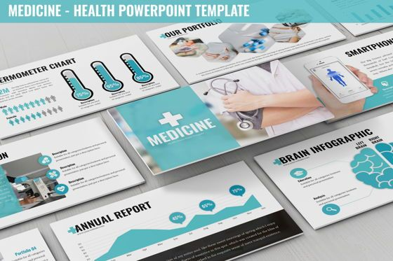 Data Driven Diagrams and Charts: Medicine - Health Powerpoint Template #06226