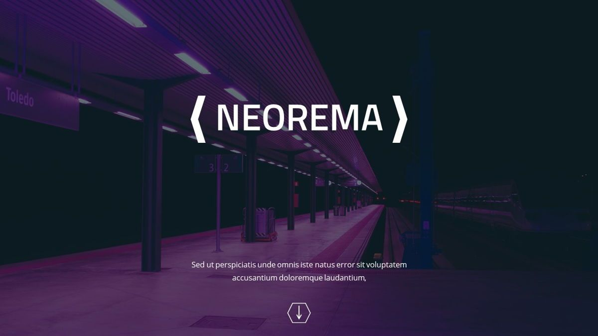 Neorema - Midnight Powerpoint Template, Slide 2, 06227, Data Driven Diagrams and Charts — PoweredTemplate.com