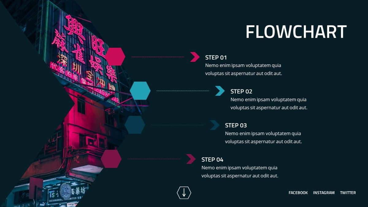 Neorema - Midnight Powerpoint Template, Slide 22, 06227, Data Driven Diagrams and Charts — PoweredTemplate.com