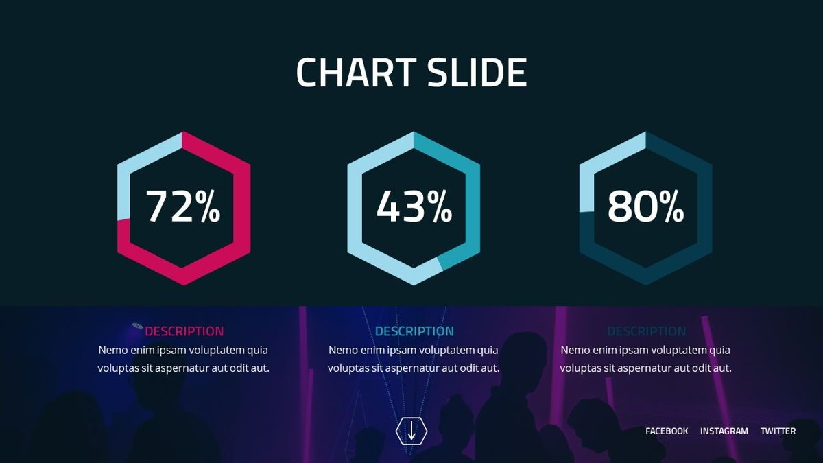 Neorema - Midnight Powerpoint Template, Slide 27, 06227, Data Driven Diagrams and Charts — PoweredTemplate.com