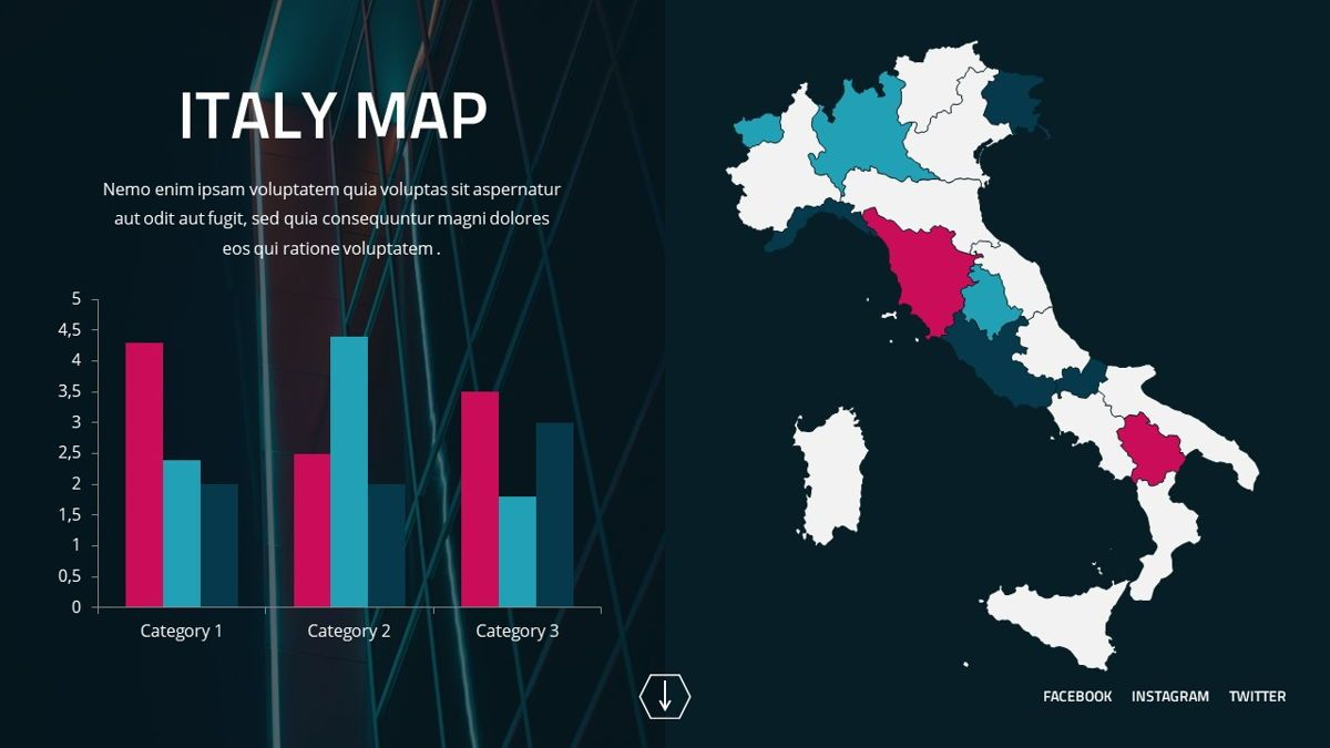 Neorema - Midnight Powerpoint Template, Slide 29, 06227, Data Driven Diagrams and Charts — PoweredTemplate.com