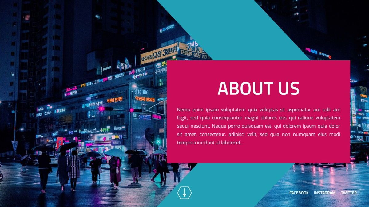 Neorema - Midnight Powerpoint Template, Slide 5, 06227, Data Driven Diagrams and Charts — PoweredTemplate.com