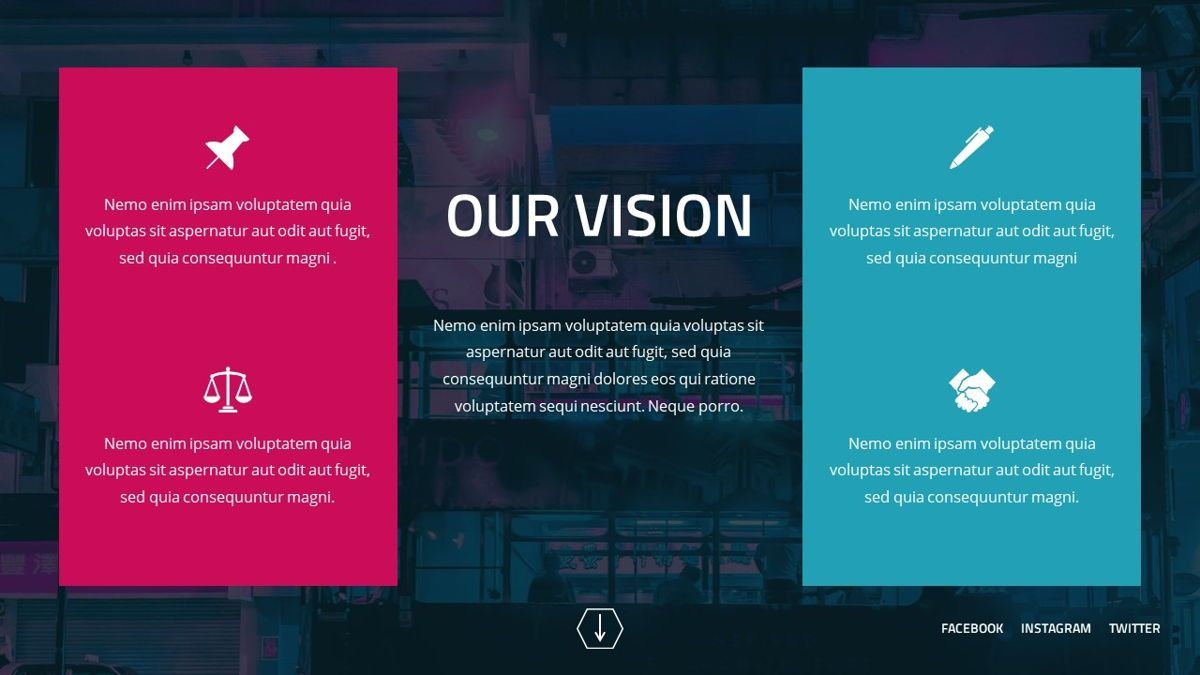 Neorema - Midnight Powerpoint Template, Slide 6, 06227, Data Driven Diagrams and Charts — PoweredTemplate.com