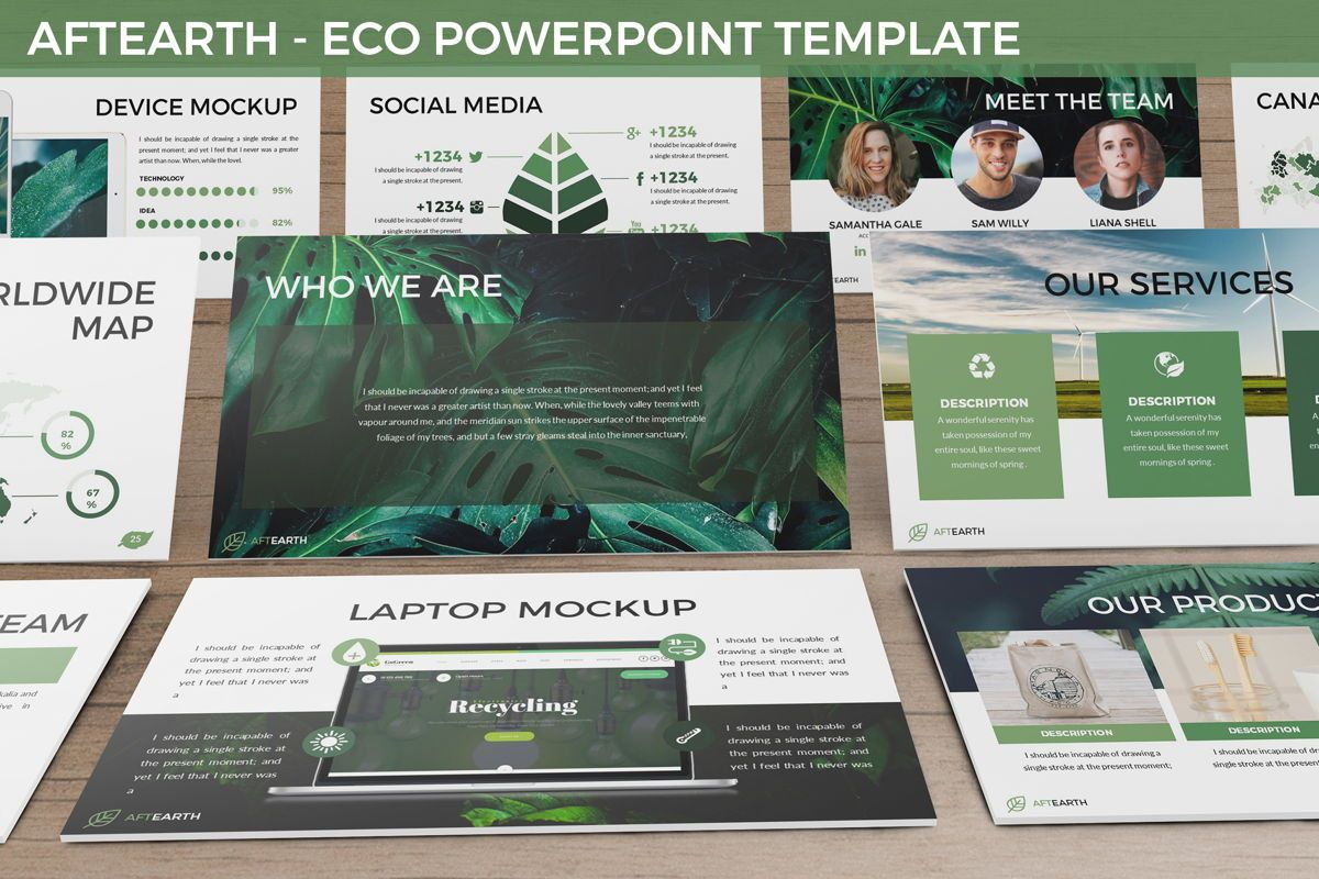 Aftearth - Eco Powerpoint Template, 06228, Business Models — PoweredTemplate.com