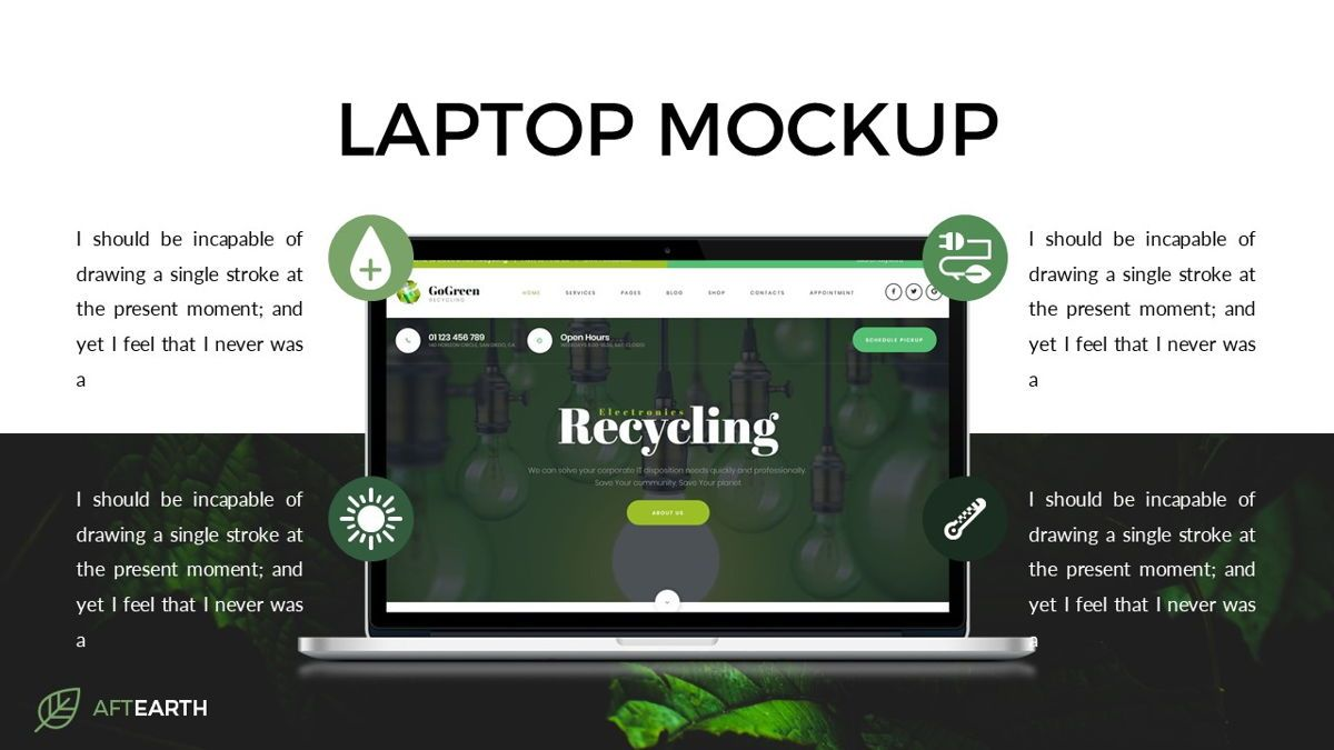 Aftearth - Eco Powerpoint Template, Slide 18, 06228, Business Models — PoweredTemplate.com