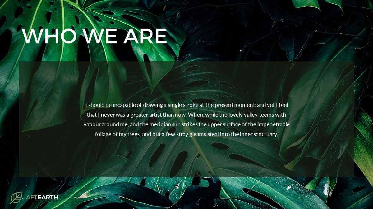 Aftearth - Eco Powerpoint Template, Slide 4, 06228, Business Models — PoweredTemplate.com