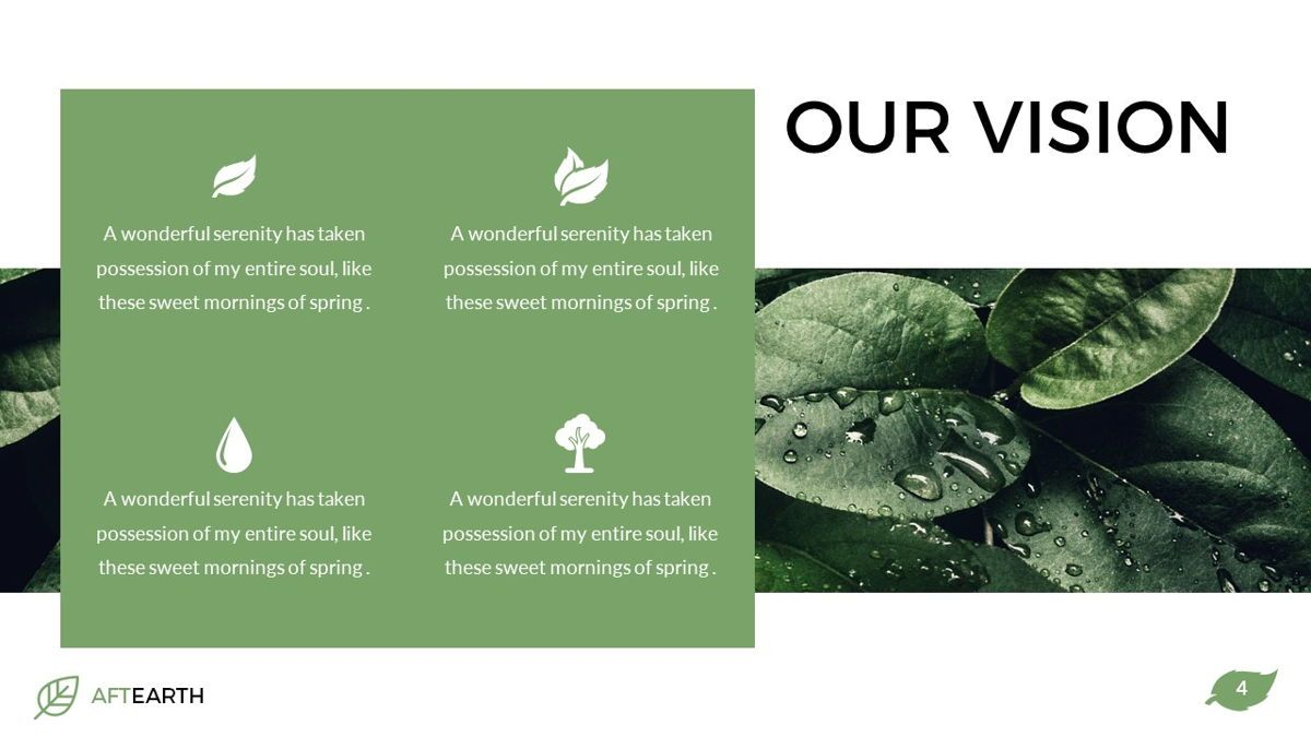 Aftearth - Eco Powerpoint Template, Slide 5, 06228, Business Models — PoweredTemplate.com