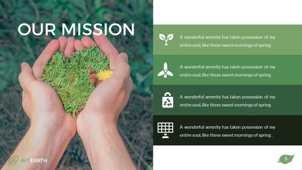 Aftearth - Eco Powerpoint Template, Slide 6, 06228, Business Models — PoweredTemplate.com
