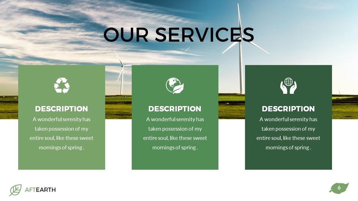 Aftearth - Eco Powerpoint Template, Slide 7, 06228, Business Models — PoweredTemplate.com