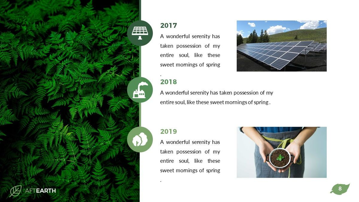 Aftearth - Eco Powerpoint Template, Slide 9, 06228, Business Models — PoweredTemplate.com