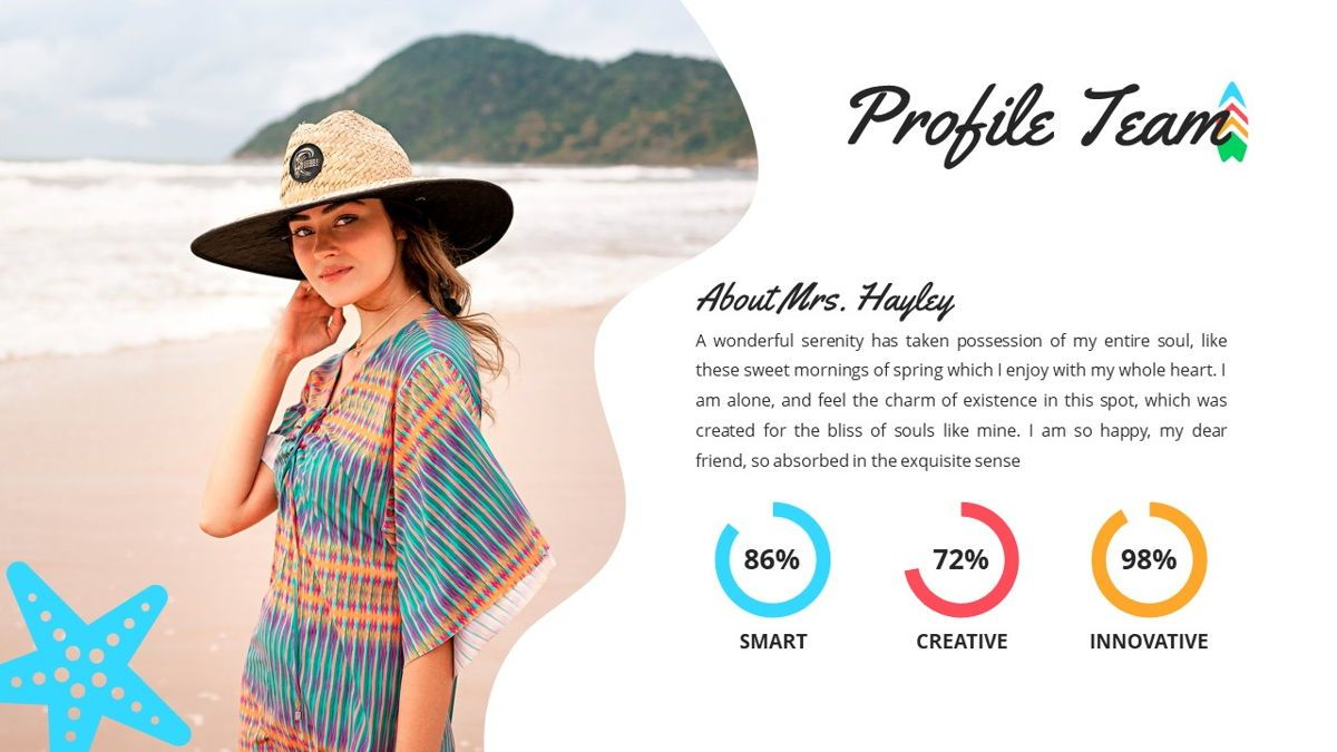 Tropicana - Summer Powerpoint Template, Slide 11, 06229, Data Driven Diagrams and Charts — PoweredTemplate.com