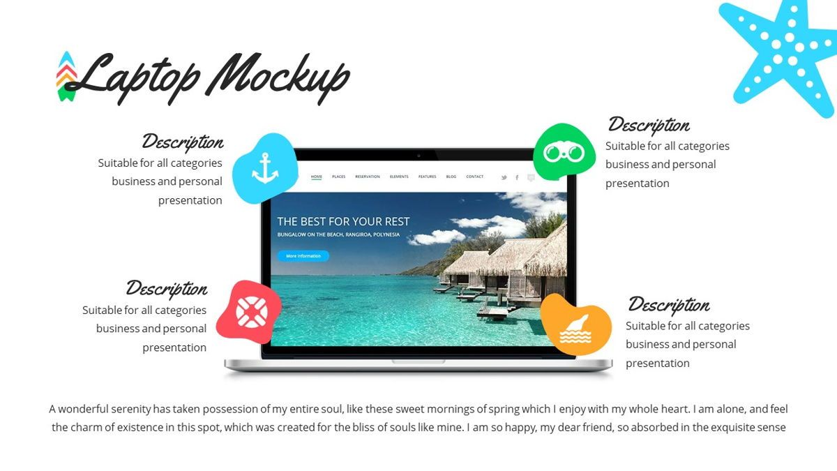 Tropicana - Summer Powerpoint Template, Slide 15, 06229, Data Driven Diagrams and Charts — PoweredTemplate.com