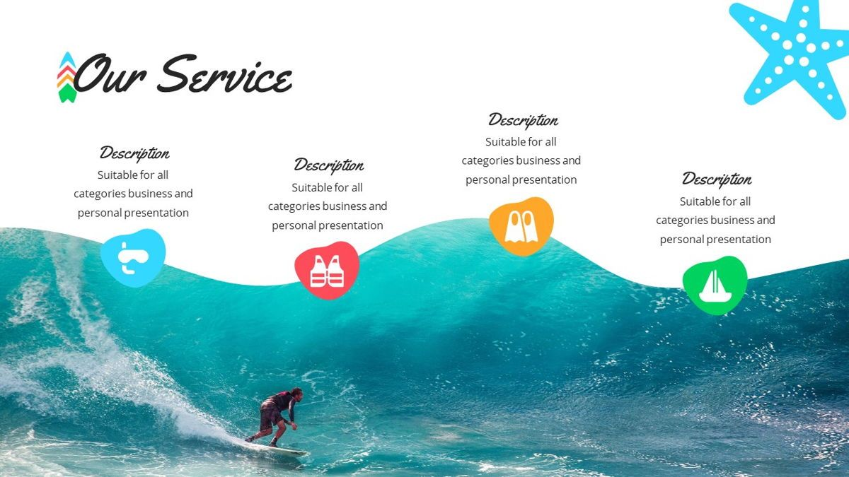 Tropicana - Summer Powerpoint Template, Slide 6, 06229, Data Driven Diagrams and Charts — PoweredTemplate.com