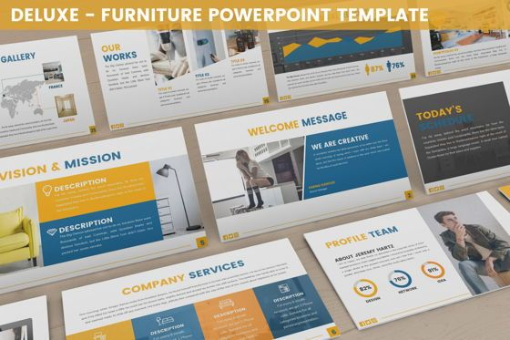 Business Models: Deluxe - Furniture Powerpoint Template #06230
