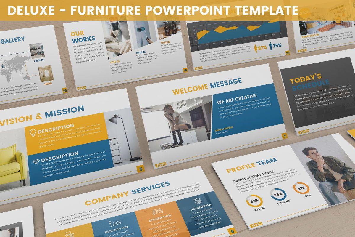 Deluxe - Furniture Powerpoint Template, 06230, Business Models — PoweredTemplate.com
