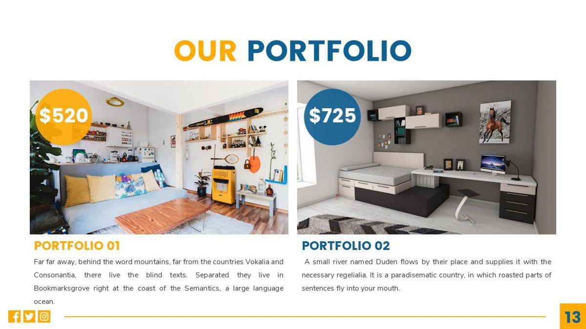 Deluxe - Furniture Powerpoint Template, Slide 14, 06230, Business Models — PoweredTemplate.com
