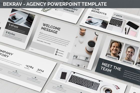 Business Models: Bekrav - Agency Powerpoint Template #06231