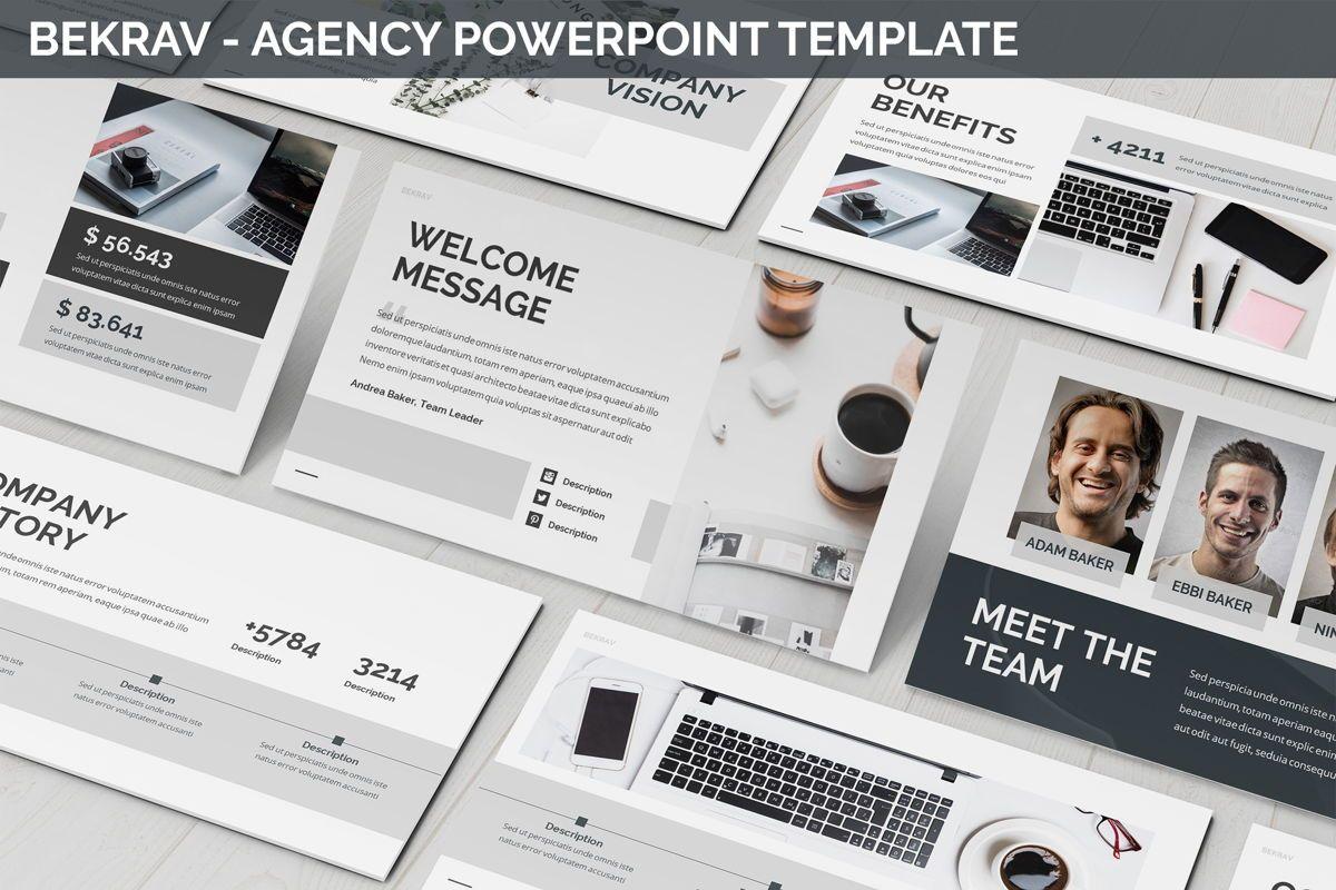 Bekrav - Agency Powerpoint Template, 06231, Business Models — PoweredTemplate.com