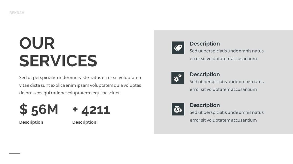 Bekrav - Agency Powerpoint Template, Slide 13, 06231, Business Models — PoweredTemplate.com