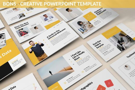 Data Driven Diagrams and Charts: Bons - Creative Powerpoint Template #06232