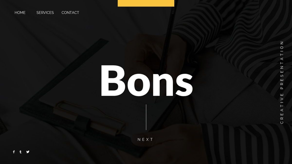 Bons - Creative Powerpoint Template, Slide 2, 06232, Data Driven Diagrams and Charts — PoweredTemplate.com