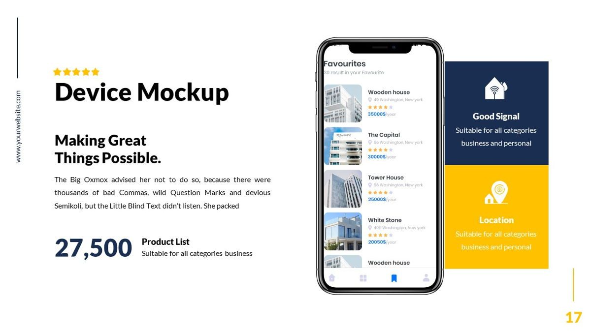 Mansion - Hospitality Powerpoint Template, Slide 18, 06233, Business Models — PoweredTemplate.com