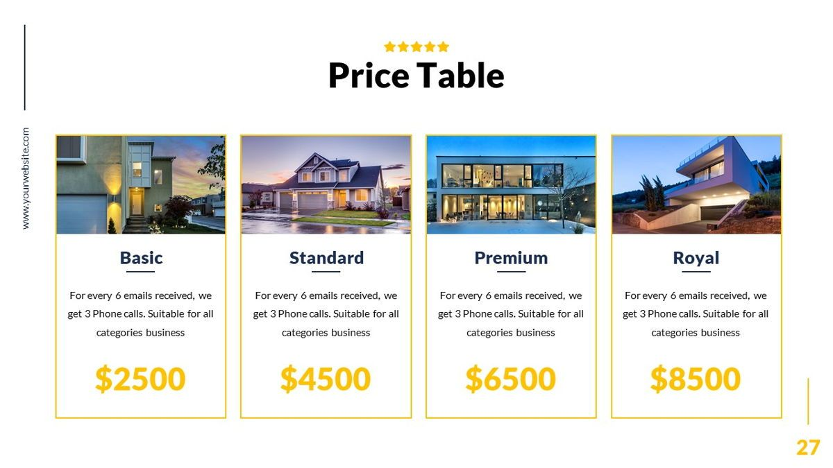 Mansion - Hospitality Powerpoint Template, Slide 28, 06233, Business Models — PoweredTemplate.com