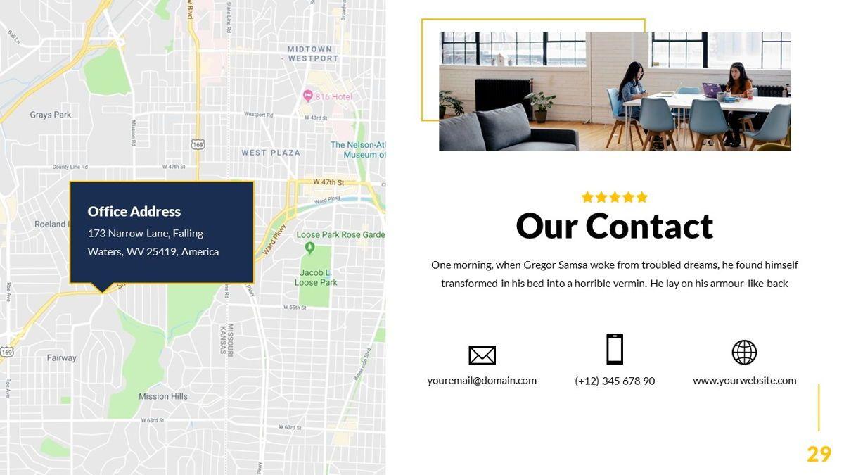 Mansion - Hospitality Powerpoint Template, Slide 30, 06233, Business Models — PoweredTemplate.com