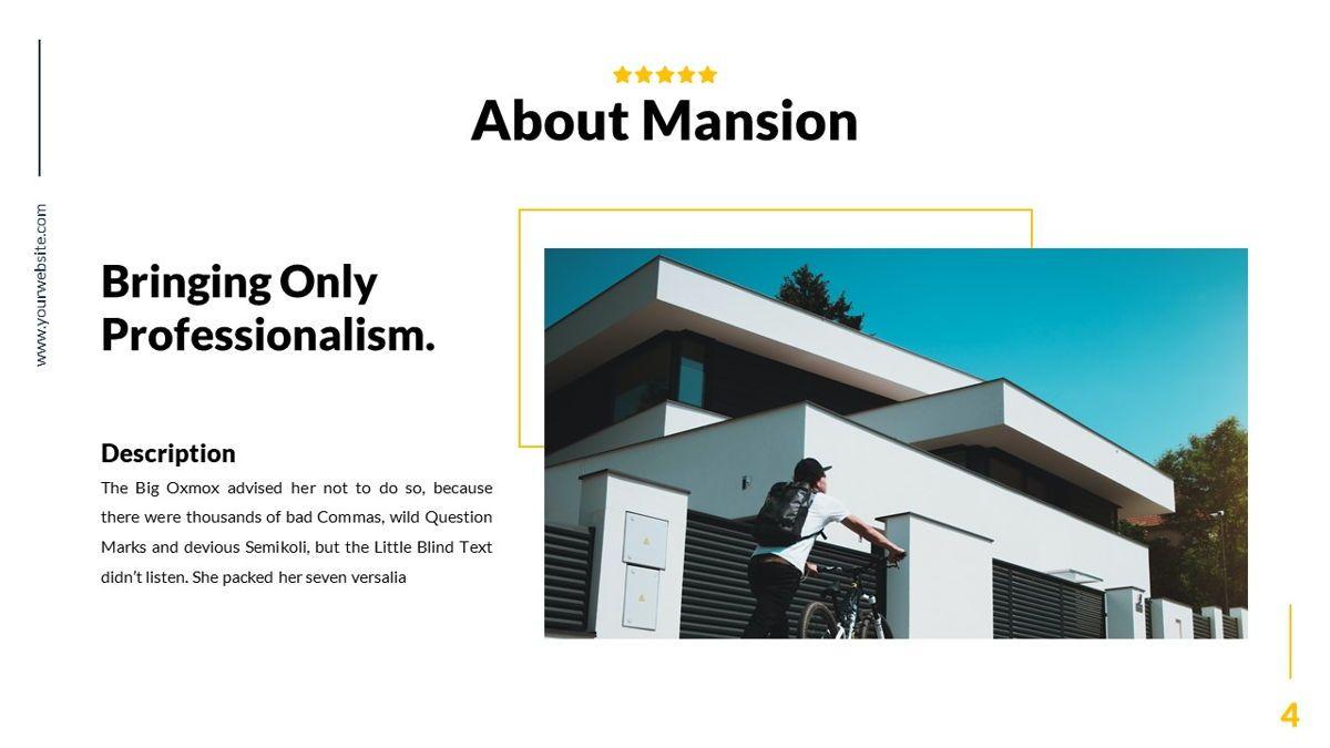 Mansion - Hospitality Powerpoint Template, Slide 5, 06233, Business Models — PoweredTemplate.com