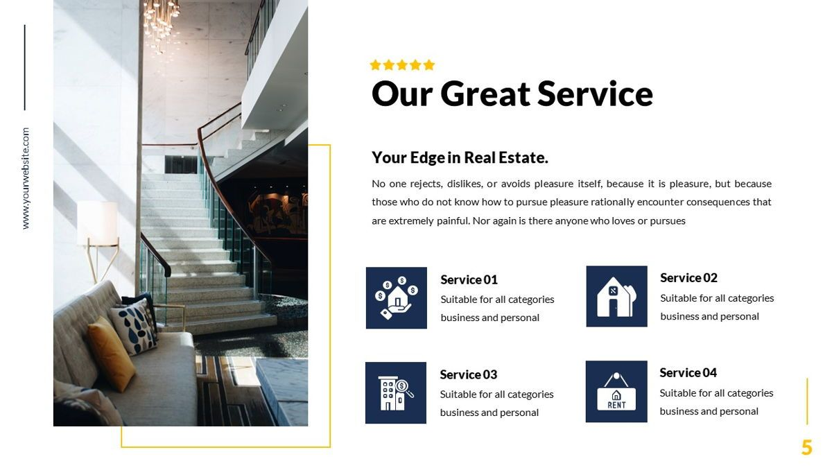 Mansion - Hospitality Powerpoint Template, Slide 6, 06233, Business Models — PoweredTemplate.com