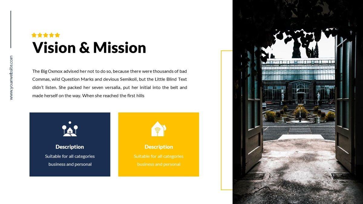 Mansion - Hospitality Powerpoint Template, Slide 7, 06233, Business Models — PoweredTemplate.com