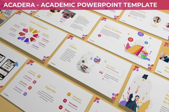 Data Driven Diagrams and Charts: Acadera - Academic Powerpoint Template #06234