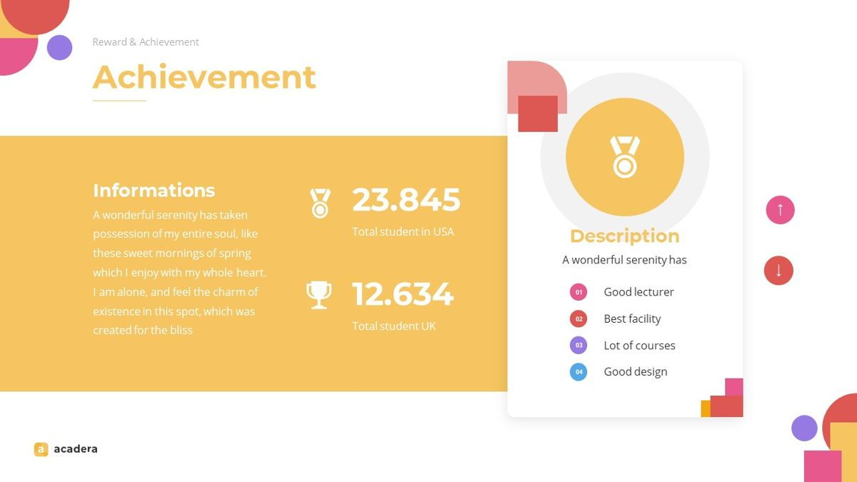 Acadera - Academic Powerpoint Template, Slide 12, 06234, Data Driven Diagrams and Charts — PoweredTemplate.com