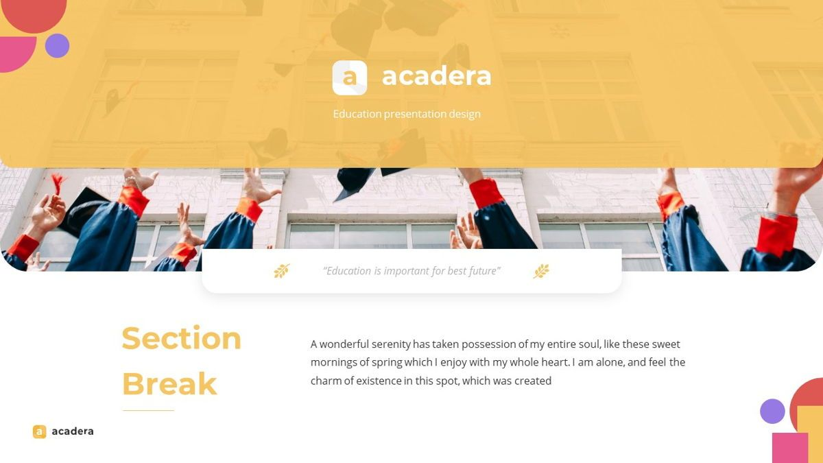 Acadera - Academic Powerpoint Template, Slide 13, 06234, Data Driven Diagrams and Charts — PoweredTemplate.com