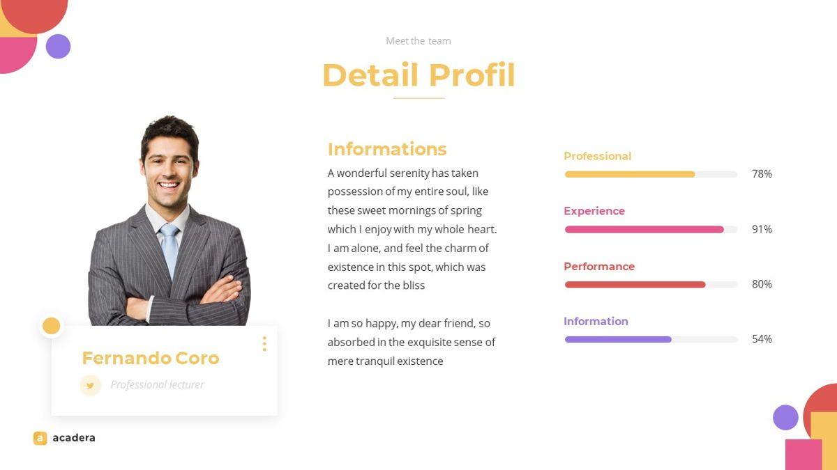 Acadera - Academic Powerpoint Template, Slide 16, 06234, Data Driven Diagrams and Charts — PoweredTemplate.com
