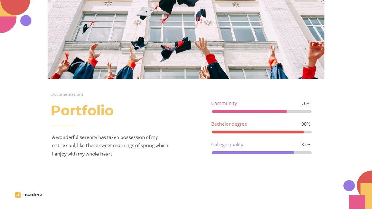Acadera - Academic Powerpoint Template, Slide 18, 06234, Data Driven Diagrams and Charts — PoweredTemplate.com
