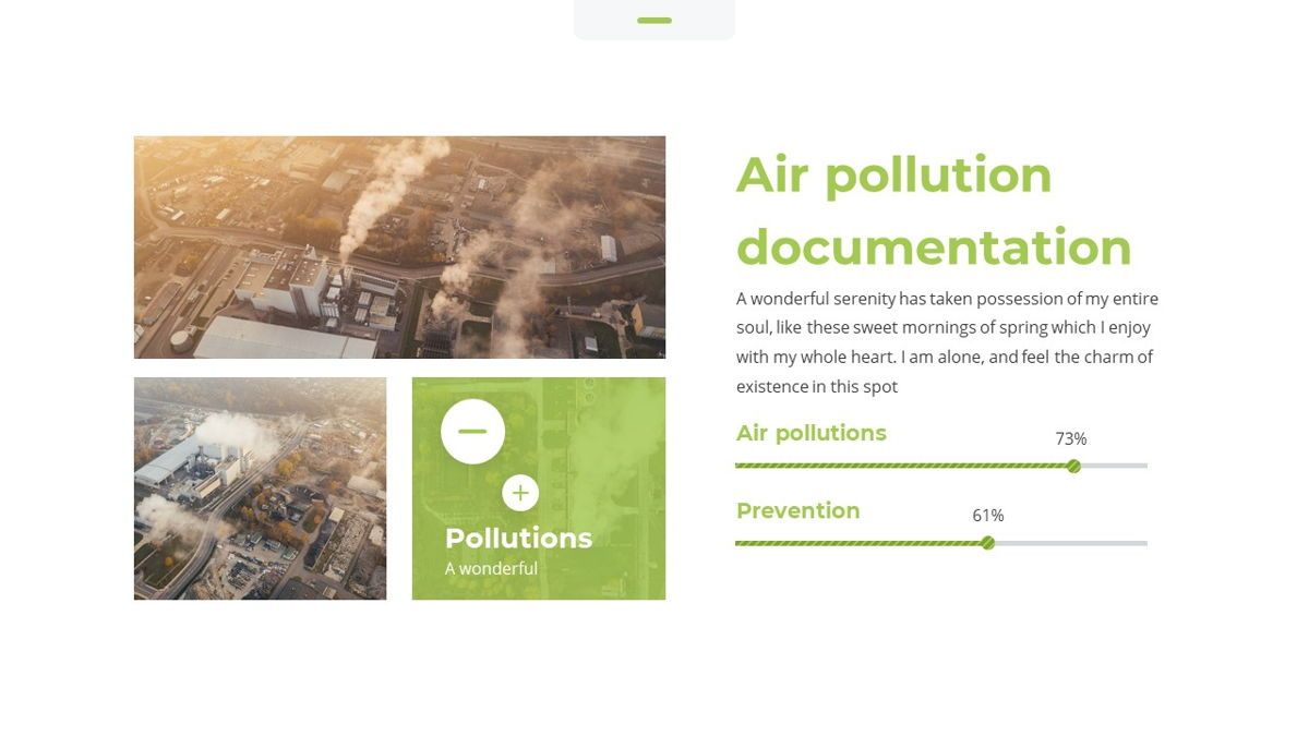 Airea - Air Pollutions Powerpoint Template, Slide 17, 06235, Diagrammi e Grafici con Dati — PoweredTemplate.com