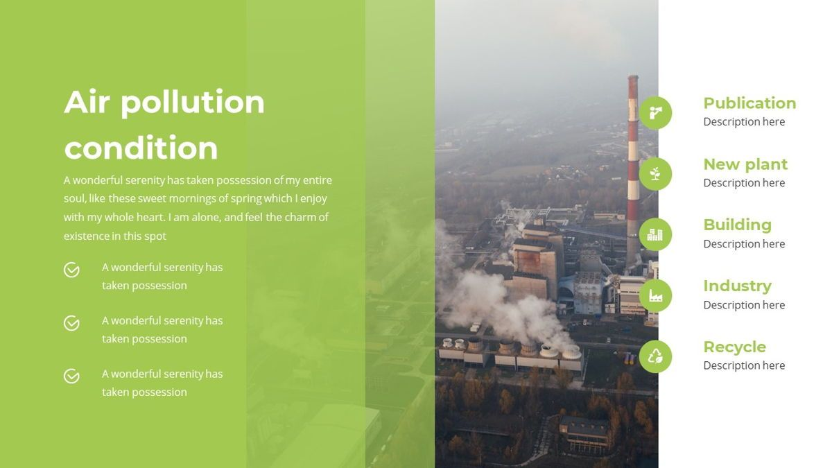 Airea - Air Pollutions Powerpoint Template, Slide 18, 06235, Diagrammi e Grafici con Dati — PoweredTemplate.com