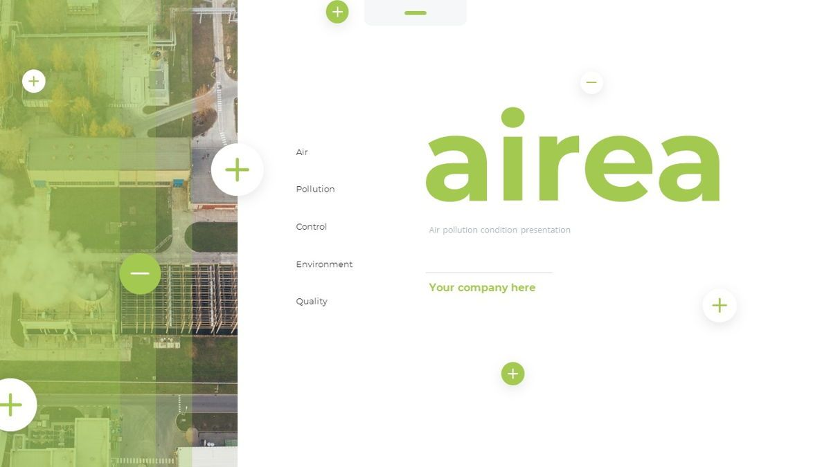 Airea - Air Pollutions Powerpoint Template, Slide 2, 06235, Diagrammi e Grafici con Dati — PoweredTemplate.com