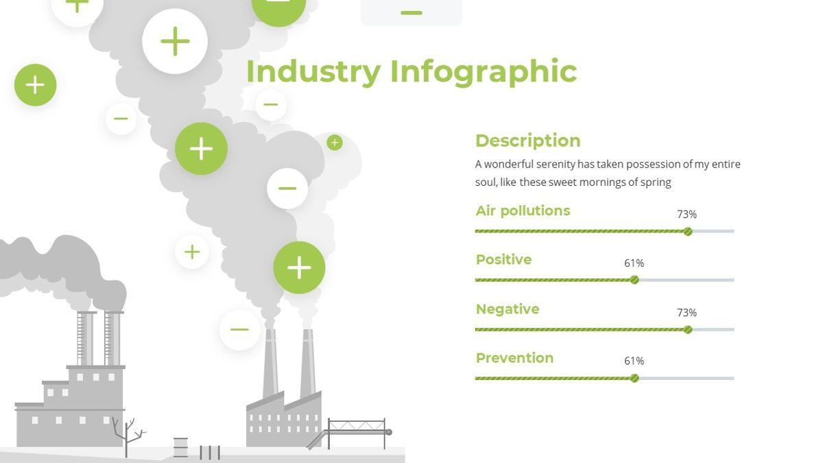 Airea - Air Pollutions Powerpoint Template, Slide 26, 06235, Diagrammi e Grafici con Dati — PoweredTemplate.com