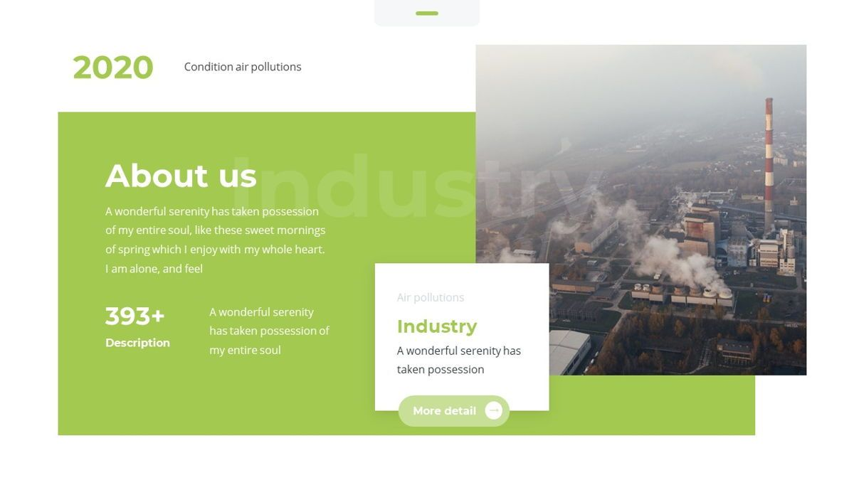 Airea - Air Pollutions Powerpoint Template, Slide 6, 06235, Diagrammi e Grafici con Dati — PoweredTemplate.com